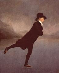 The Rev. Robert Walker skating on Duddingston Loch